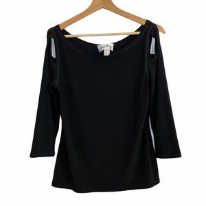 Joseph Ribkoff cold shoulder blouse